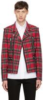 99% Is Red Tartan Rider Jacket