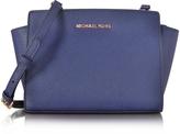 Michael Kors Selma Medium Admiral Blue Saffiano Leather Messenger Bag