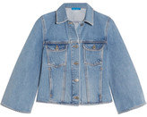 MiH Jeans Arch Cropped Denim Jacket - Mid denim
