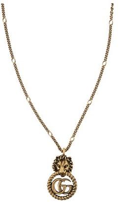 Gucci GG Marmont lion necklace