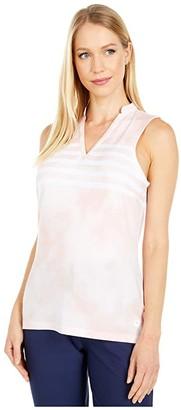 Puma Tie-Dye Sleeveless Polo (Peachskin) Women's Clothing