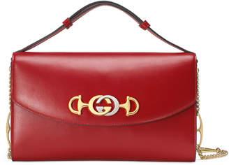 Gucci Zumi Smooth Leather Shoulder Bag