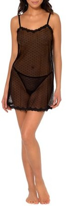 Smart & Sexy Women's Sheer Lace & Mesh Chemise Lingerie
