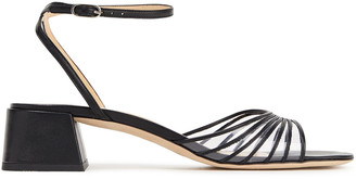 BY FAR Anna Pvc-trimmed Leather Sandals