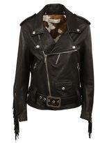 Golden Goose Deluxe Brand Fringed Detail Bicker Leather Jacket