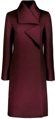 Aqvarossa Puno Asymmetrical Coat - Bordeaux
