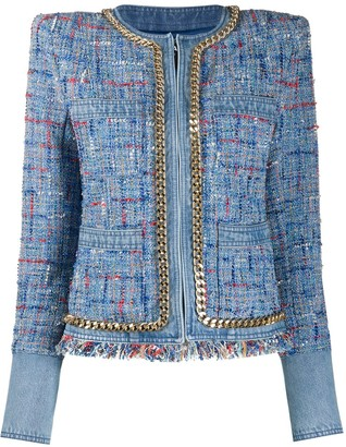 Balmain Tweed Cropped Blazer