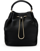Diane von Furstenberg Love Power Leather Drawstring Bucket Bag