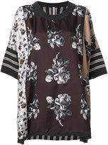 Antonio Marras contrast pattern top - women - Silk/Virgin Wool - XS