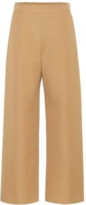 Marni High-rise wide-leg wool pants