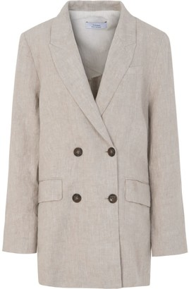A Line Clothing Loose Fit Linen Blazer