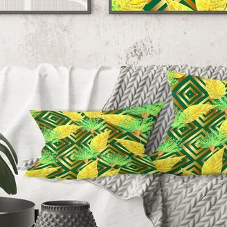 East Urban Home Tropical Luxury Pattern II Lumbar Pillow