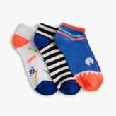 J.Crew Boys' Max the Monster ankle socks three-pack