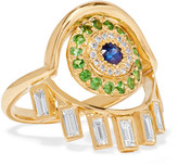 Ileana Makri 18-karat Gold Multi-stone Ring - 52