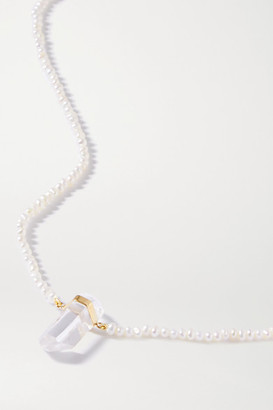 JIA JIA Gold, Quartz And Pearl Necklace - White