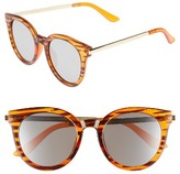 A. J. Morgan Women's A.j. Morgan Hi There 50Mm Mirrored Round Sunglasses - Tortoise/ Mirror
