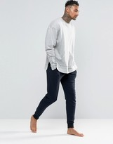 Asos Loungewear Skinny Joggers In Navy