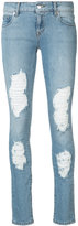 Marcelo Burlon County of Milan Distressed Dixie Skinny Jeans - women - Cotton/Spandex/Elastane - 26