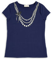 Kate Spade Girls 7-16 Necklace Graphic Tee