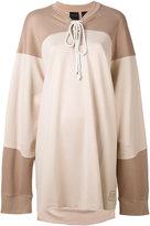 Puma layered elongated sleeves sweatshirt - women - Nylon/Spandex/Elastane - XS