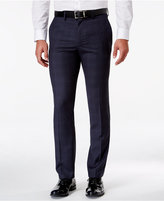 Kenneth Cole Reaction Men's Classic-Fit Blue Windowpane Dress Pants