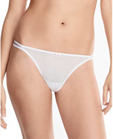 Betsey Johnson Textured Mesh Double String Thong