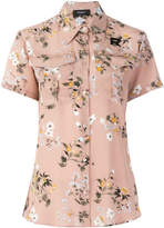 Rochas floral short-sleeved blouse