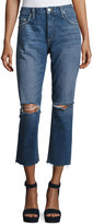 Tularosa Hailey Straight-Fit Cropped Jeans, Blue