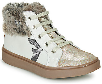 Catimini MARCELLE girls's Shoes (High-top Trainers) in Beige