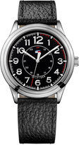 Tommy Hilfiger Men's Table Black Leather Strap Watch 42mm 1791282