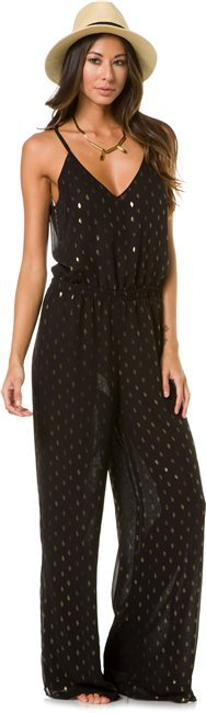 Eight Sixty Black And Gold Jumpsuit