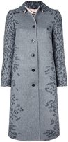 Salvatore Ferragamo leopard print coat - women - Silk/Acetate/Angora/Virgin Wool - 44