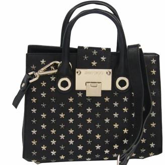 Jimmy Choo Black Star Studded Leather Riley Top Handle Bag