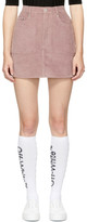 Perks And Mini Pink Parallel Chunky Corduroy Miniskirt
