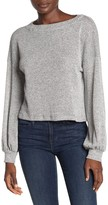 Pst By Project Social T Waffle Knit Blouson Sleeve Top