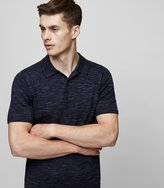Reiss Reiss Junior - Flecked Weave Polo Shirt In Blue, Mens