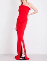 Antonio Berardi Asymmetric wool-crepe gown