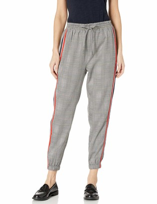 Cupcakes And Cashmere Women's Stella Checked Jogger with Stripping Detail