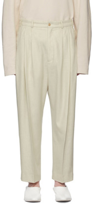 Off-White Hed Mayner Wool Pleated Trousers