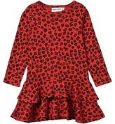 Mini Rodini Leopard Frill Dress Red