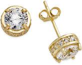 Giani Bernini Fancy Stud Earrings in 18k Gold over Sterling Silver