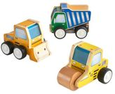 Guidecraft 3-Pack Jr. Plywood Construction Trucks