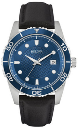 Bulova Men's Leather Watch
