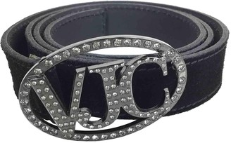 Versace Silver Leather Belts