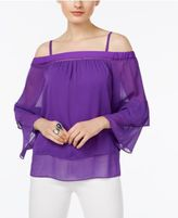 INC International Concepts Tiered Off-The-Shoulder Top, Only at Macy's
