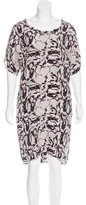 DAY Birger et Mikkelsen Abstract Print Silk Dress