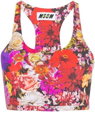 MSGM Floral Sports Bra