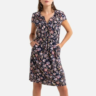 Anne Weyburn Mid-Length Dress in Floral Print