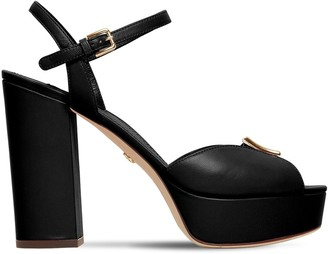 Dolce & Gabbana 120MM LEATHER PLATFORM SANDALS