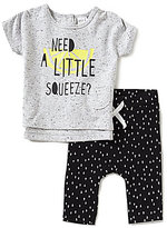 Petit Lem Baby Girls 3-24 Months Need A Little Squeeze Short-Sleeve Tee & Triangle Print Leggings